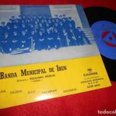 Discos de vinilo: BANDA MUNICIPAL DE IRUN DIANA/FAGINA/JOLO/RATAPLAN/DESCARGA EP 1963 COLUMBIA EX. Lote 134906518