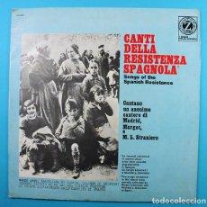 Discos de vinilo: LP CANTI DELLA RESISTENZA SPAGNOLA, GUERRA CIVIL ESPAÑOLA, ALBATROS 1968 VINILO, VER DESCRIPCION. Lote 134907114