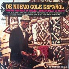 Discos de vinilo: NAT KING COLE – DE NUEVO COLE ESPAÑOL (ESPAÑA, 1962). Lote 134907426