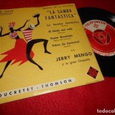 Discos de vinilo: JERRY MENGO ORQUESTA LA SAMBA FANTASTICA OST BSO EL HADA DEL CAFE +2 EP 195? TELEFUNKEN SPAIN. Lote 134907690