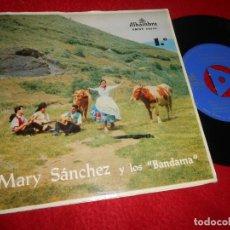 Discos de vinilo: MARY SANCHEZ&BANDAMA QUE SE LLEVAN EL PICHON/TARTANERO/GALDAR MIA +1 EP 1963 CANARIAS FOLK GATEFOLD. Lote 134908290