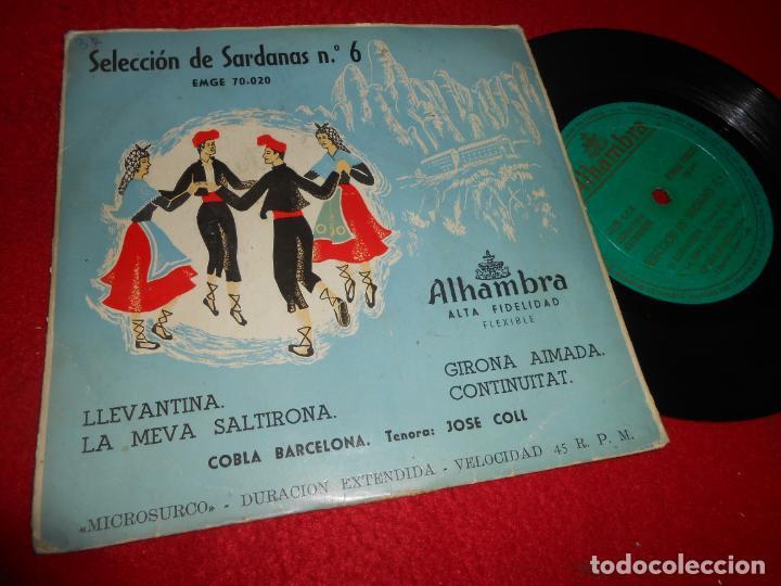 COBLA BARCELONA&JOSE COLL LLEVANTINA/LA MEVA SALTIRONA +2 EP 195? ALHAMBRA SARDANAS NO6 (Música - Discos de Vinilo - EPs - Country y Folk)