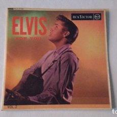 Discos de vinilo: EP A 45 RPM DEL CANTANTE NORTEAMERICANO DE ROCK AND ROLL ELVIS PRESLEY. Lote 134910742