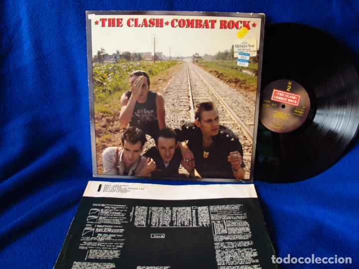 THE CLASH - COMBAT ROCK - LP EDICION HOLANDESA 1982 - INCLUYE INSERTO CON LAS LETRAS VG / EX (Música - Discos de Vinilo - EPs - Pop - Rock Extranjero de los 70)