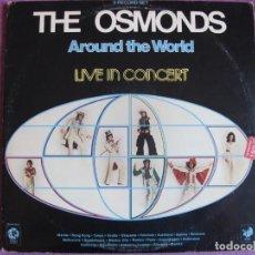 Discos de vinilo: LP - THE OSMONDS - AROUND THE WORLD, LIVE IN CONCERT (DOBLE DISCO, USA, MGM RECORDS 1975). Lote 134924838