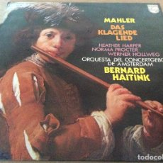Discos de vinilo: MAHLER. DAS KLAGENDE LIED. BERNARD HAITINK - PHILIPS 1975.. Lote 134928970