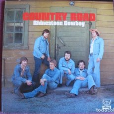 Discos de vinilo: LP - COUNTRY ROAD (COUNTRY AND FOLK) – RHINESTONE COWBOY (SWEDEN, VIKING RECORDS 1974). Lote 134929578