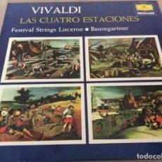 Discos de vinilo: VIVALDI. LAS CUATRO ESTACIONES. FESTIVAL STRINGS LUCERNE / BAUMGARTNER. 1975. Lote 134931702