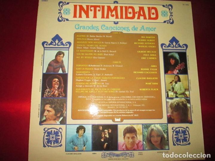 Discos de vinilo: LP-INTIMIDAD-GRANDES CANCIONES DE AMOR-(SL-1015)-IMPERIAL INTERNACIONAL(VARIAS MARCAS)- K TEL-1979 - Foto 4 - 134958074