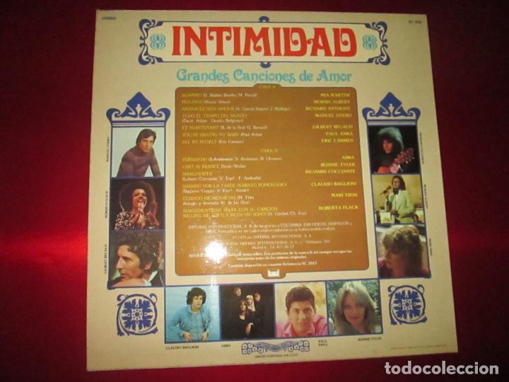 Discos de vinilo: LP-INTIMIDAD-GRANDES CANCIONES DE AMOR-(SL-1015)-IMPERIAL INTERNACIONAL(VARIAS MARCAS)- K TEL-1979 - Foto 2 - 134958074
