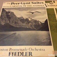 Discos de vinilo: GRIEG. PEER GYNT, SUITES / SAINT SAENS. CARNIVAL OF THE ANIMALS, RCA VICTROLA 1963.. Lote 134959306