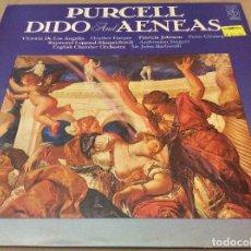 Discos de vinilo: PURCELL. DIDO & AENEAS. VICTORIA DE LOS ÁNGELES (SOPRANO). SIR JOHN BARBIROLLI (DIR).. Lote 134959402