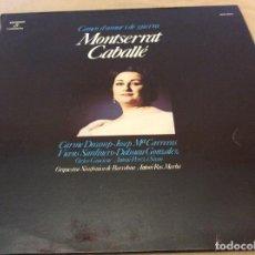 Discos de vinilo: MONTSERRAT CABALLÉ. CANÇÓ D´AMOR I DE GUERRA. COLUMBIA 1975.. Lote 134969882