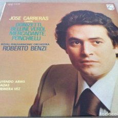 Discos de vinilo: JOSE CARRERAS CANTA ARIAS DONIZETTI,BELLINI,VERDI,MERCADANTE,PONCHIELLI. PHILIPS 1977. Lote 134982166