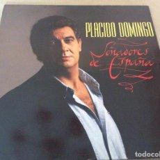 Discos de vinilo: PLACIDO DOMINGO. SOÑADORES DE ESPAÑA. CBS 1989. CONTIENE ENCARTE.. Lote 134982522