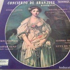 Discos de vinilo: RODRIGO. TURIBIO SANTOS, ROLAND DOUATTE, COLLEGIUM MUSICUM DE PARIS. CONCIERTO DE ARANJUEZ. Lote 134987774