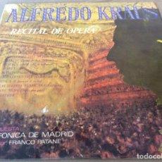Discos de vinilo: ALFREDO KRAUS. RECITAL DE OPERA. CARRILLON 1968.. Lote 134989614
