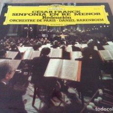 Discos de vinilo: CESAR FRANK. SINFONIA EN RE MENOR - REDENCION. ORQ. PARIS DIR. DANIEL BARENBOIM. D.G. 1977. . Lote 134993114