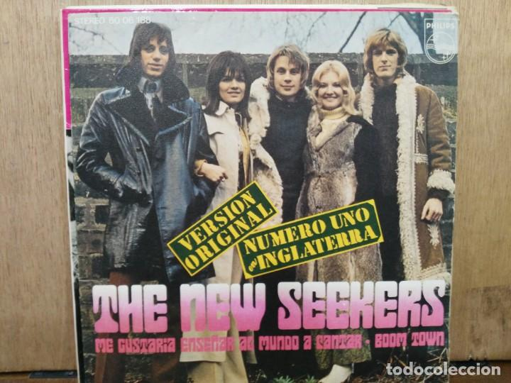 THE NEW SEEKERS - I´D LIKE TO TEACH THE WORLD TO SING / BOOM TOWN - SINGLE DEL SELLO PHILIPS DE 1972 (Música - Discos - Singles Vinilo - Pop - Rock - Extranjero de los 70)