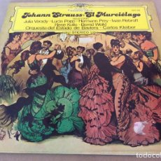 Discos de vinilo: JOHANN STRAUSS. EL MURCIÉLAGO. VARADY, POPP, PREY...CARLOS KLEIBER. 1977.. Lote 135000830
