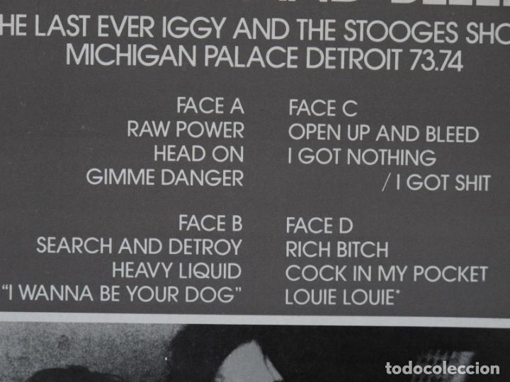 Discos de vinilo: IGGY AND THE STOOGES - METALLIC 2X KO - 2LP FRANCE SKYDOG 1989 - IGGY POP - COMO NUEVO - Foto 6 - 135002702