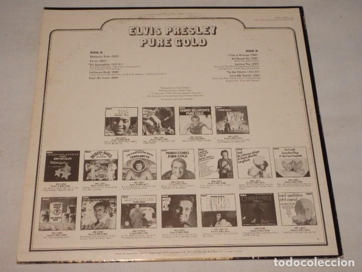 Discos de vinilo: ELVIS PRESLEY ( PURE GOLD ) USA-1975 LP33 RCA - Foto 2 - 1128785