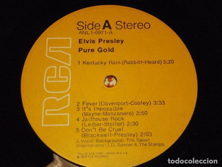 Discos de vinilo: ELVIS PRESLEY ( PURE GOLD ) USA-1975 LP33 RCA - Foto 5 - 1128785