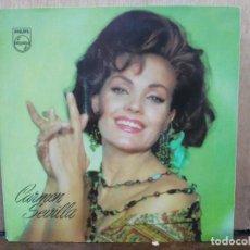 Discos de vinilo: CARMEN SEVILLA EN T.V.E. - CABECITA LOCA / TE DEBO / LA LUNA Y EL TORO / ... - EP. PHILIPS 1965. Lote 236319890