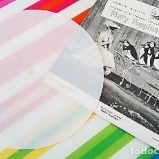 Discos de vinilo: SINGLE DE PLÁSTICO BLANCO DE MARY POPPINS. AÑO 1966. Lote 135037654