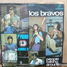 Discos de vinilo: LOS BRAVOS - PEOPLE TALKING AROUND / EVERY DOG HAS HIS DAY - SINGLE DEL SELLO COLUMBIA DE 1970. Lote 135038014