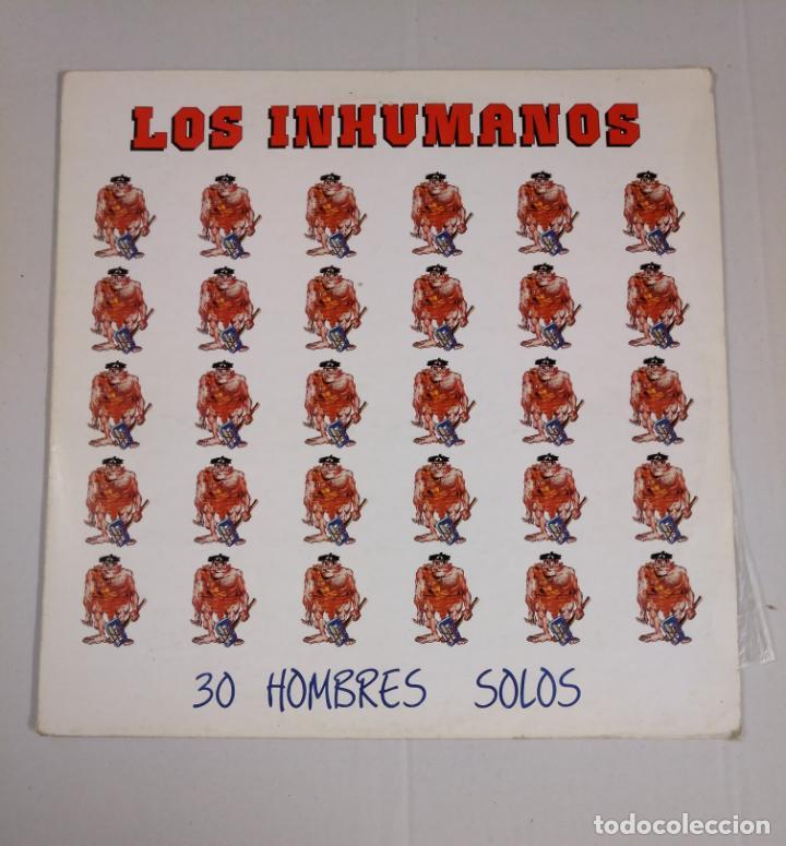 LOS INHUMANOS. - 30 HOMBRES SOLOS- LP . TDKDA33 (Música - Discos - LP Vinilo - Grupos Españoles de los 70 y 80)
