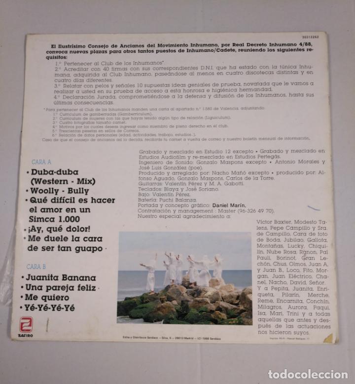 Discos de vinilo: LOS INHUMANOS. - 30 HOMBRES SOLOS- LP . TDKDA33 - Foto 2 - 135041670