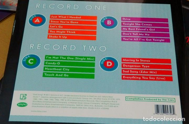 Discos de vinilo: MOVING ON STEREO THE BEST OF THE CARS * 2LP 180g + Descarga + Deluxe Precintado!! - Foto 3 - 135045974