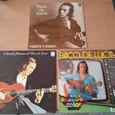 Discos de vinilo: 3 LP PACO DE LUCIA DUENDE FLAMENCO FUENTE CAUDAL PHILIPS. Lote 135047346