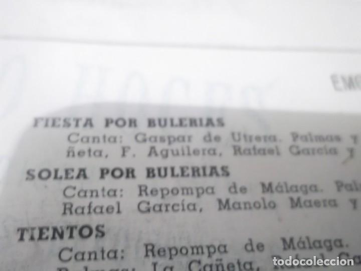Discos de vinilo: BAILES ESPAÑOLES / FIESTA POR BULERIAS / SOLEA POR BULERIAS + 2 (EP 1958)gaspar de utrera,repompa de - Foto 2 - 135061870