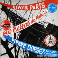 Discos de vinilo: PIERRE DORSEY SU PIANO Y SUS RITMOS – REVOIR PARIS 80 EXITOS DE PARIS (ESPAÑA, 1959. VINYL, LP,). Lote 135064882