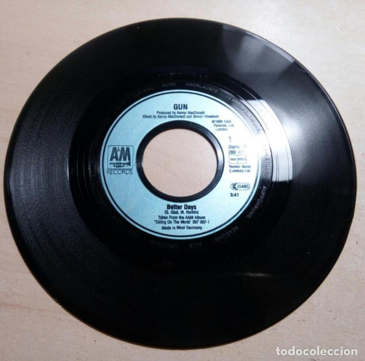 BETTER DAYS.GUN.WHEN YOU LOVE SOMEBODY.A&M RECORDS.(1989) (Música - Discos de Vinilo - Singles - Pop - Rock Extranjero de los 80)