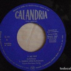 Discos de vinilo: ENRIQUE LERIN - ME VOY - EP PROMOCIONAL 1970 - CALANDRIA - SIN PORTADA. Lote 135084478