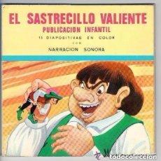 Discos de vinilo: EL SASTRECILLO VALIENTE FLEXI-DISC CON NARRACION SONORA Nº 4 + 15 DIAPOSITIVAS EN COLOR - 1968. Lote 135085510