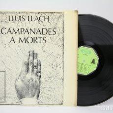 Discos de vinilo: DISCO LP DE VINILO - LLUIS LLACH, CAMPANADES A MORTS - MOVIEPLAY - AÑO 1977. Lote 135097805