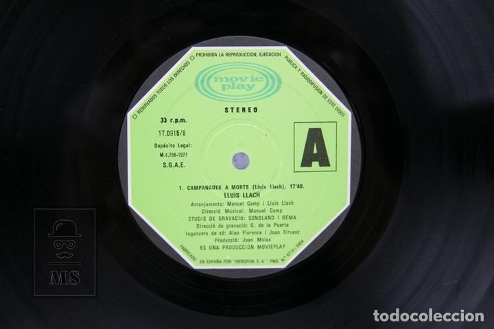 Discos de vinilo: Disco LP De Vinilo - Lluis LLach, Campanades A Morts - Movieplay - Año 1977 - Foto 2 - 135097805
