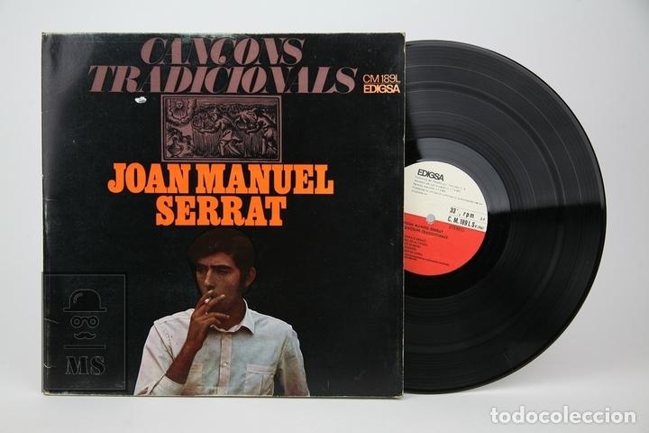 DISCO LP DE VINILO - JOAN MANUEL SERRAT, CANÇONS TRADICIONALS - EDIGSA - AÑO 1967 (Música - Discos - LP Vinilo - Solistas Españoles de los 70 a la actualidad)