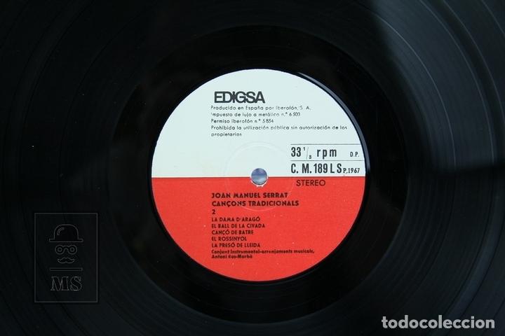 Discos de vinilo: Disco LP De Vinilo - Joan Manuel Serrat, Cançons Tradicionals - Edigsa - Año 1967 - Foto 2 - 135097834
