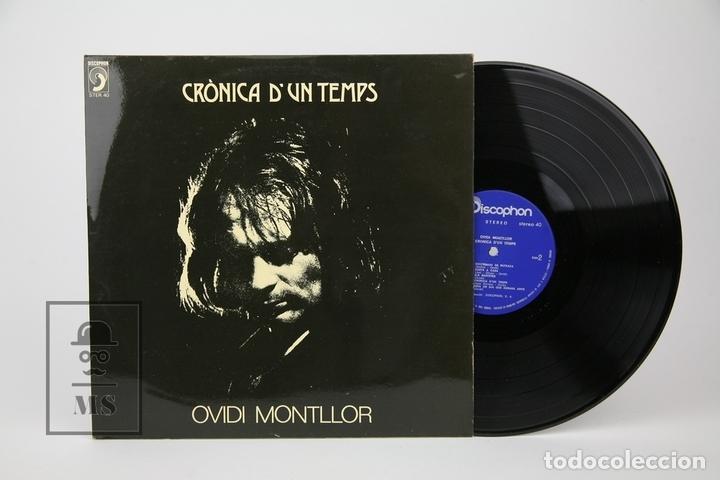 DISCO LP DE VINILO - OVIDI MONTLLOR, CRÒNICA D'UN TEMPS - CON ENCARTE - DISCOPHON - AÑO 1973 (Música - Discos - LP Vinilo - Solistas Españoles de los 70 a la actualidad)