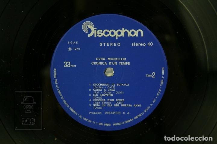 Discos de vinilo: Disco LP De Vinilo - Ovidi Montllor, Crònica D'un Temps - Con Encarte - Discophon - Año 1973 - Foto 2 - 135097919