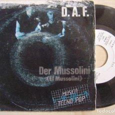 Vinyl-Schallplatten - D.A.F - der mussolini + El que - SINGLE PROMOCIONAL 1982 - ARIOLA - 135104806