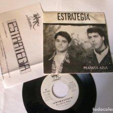 Discos de vinilo: ESTRATEGIA - PLANETA AZUL - SINGLE 1 CARA - SALAMANDRA 1993 SPAIN PROMO + CARTA PROMOCIONAL N MINT. Lote 67516729