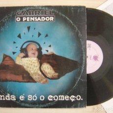 Discos de vinilo: GABRIEL O PENSADOR - AINDA É SÓ O COMEÇO - LP DOBLE BRASILEÑO CON INSERTO 1995 - CHAOS. Lote 135129338