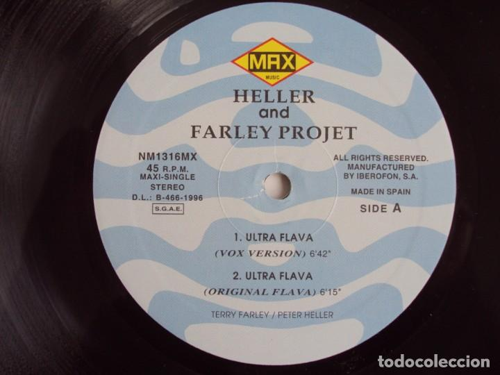 Discos de vinilo: HELLER AND FARLEY PROJECT, ULTRA FLAVA, MAXI SINGLE EDICION ESPAÑOLA 1996 MAX MUSIC - Foto 5 - 135131890