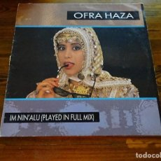 Discos de vinilo: OFRA HAZA- IM NIN'ALU- MAXI SINGLE 87. Lote 135141374